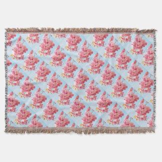 Manta Fotografia japonesa cor-de-rosa da flor de