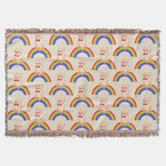 Manta Frenchie comemora o mês do orgulho no arco-íris de
