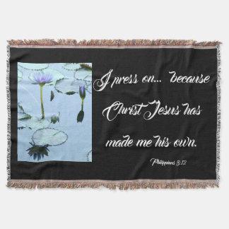 Manta Imprensa das flores de Waterlily da bíblia na