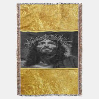 Manta Jesus que olha no céu com um design da folha de