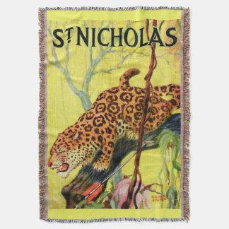 Manta Leopardo 1929 da capa de revista de São Nicolau