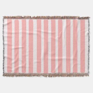 Manta Listras cor-de-rosa e brancas
