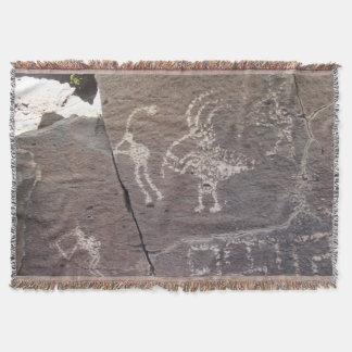 Manta Local do Petroglyph de Cieneguilla do La