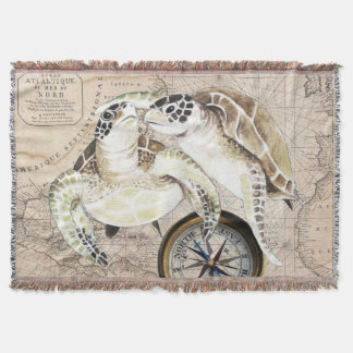Manta Mapa de compasso das tartarugas de mar