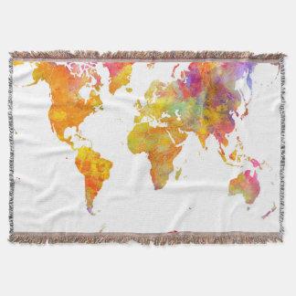 Manta mapa do mundo