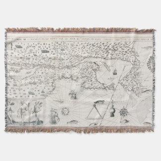 Manta Mapa do mundo medieval Quebeque Novo-France