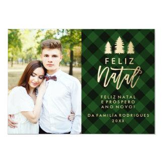 Manta natal | Cartão De Natal de Feliz Verde a Convite 12.7 X 17.78cm
