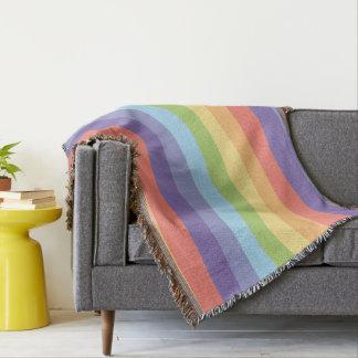 Manta O arco-íris Pastel listra o orgulho gay