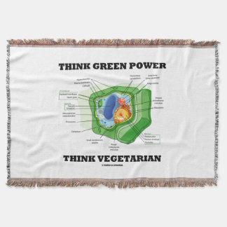 Manta O poder do pense verde pensa a pilha da planta do