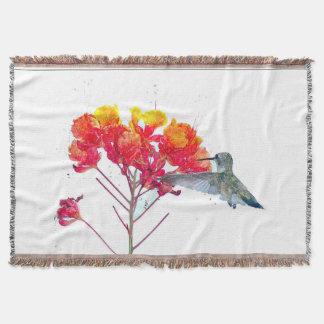Manta Os animais selvagens dos pássaros do colibri