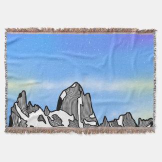 Manta Paisagem da montanha de Monte Fitz Roy