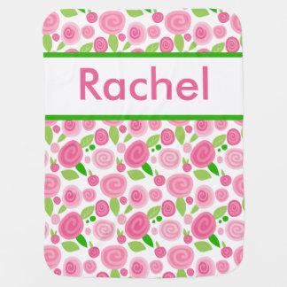 Manta Para Bebe A cobertura cor-de-rosa personalizada de Rachel