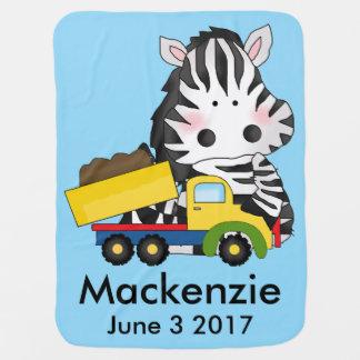 Manta Para Bebe A zebra personalizada de Mackenzie