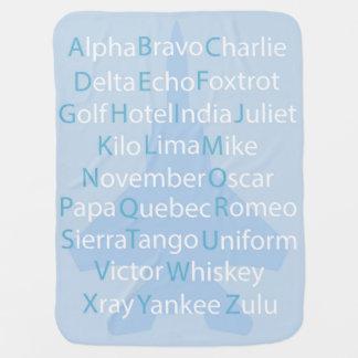 Manta Para Bebe Alfabeto fonético, travesseiro decorativo da