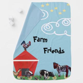 Manta Para Bebe Amigos da fazenda