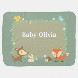 Manta Para Bebe Animal elegante da floresta para bebês