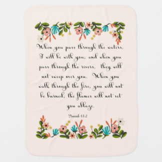 Manta Para Bebe Arte cristã das citações - 43:2 de Isaiah