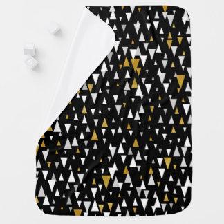 Manta Para Bebe Arte moderna do triângulo - ouro preto