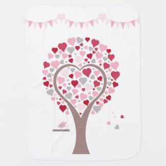 Manta Para Bebe árvore com corações