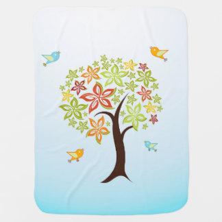 Manta Para Bebe Árvore e pássaros