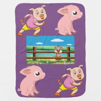 Manta Para Bebe As melhores coberturas do bebê do porco
