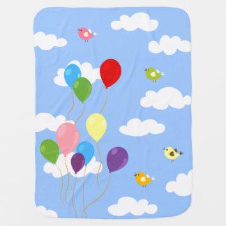 Manta Para Bebe Balões coloridos na cobertura do bebê do céu