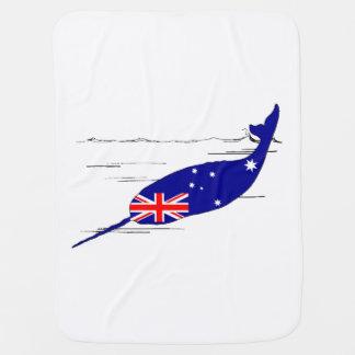 Manta Para Bebe Bandeira australiana - Narwhal