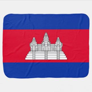 Manta Para Bebe Bandeira de Cambodia