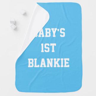Manta Para Bebe Blankie do bebê o ø (primeiro), cobertura azul