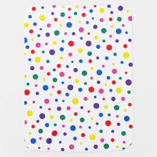 Manta Para Bebe Bolinhas multicoloridos Polkadots - círculo