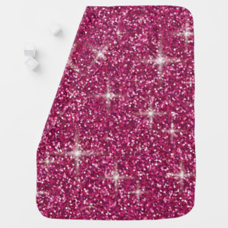 Manta Para Bebe Brilho iridescente cor-de-rosa