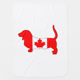 Manta Para Bebe Canadá Basset Hound
