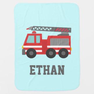Manta Para Bebe Carro de bombeiros vermelho bonito para bombeiros