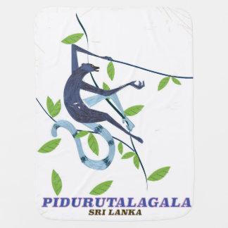 Manta Para Bebe Cartaz do viagem de Pidurutalagala Sri Lanka