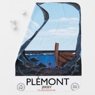 Manta Para Bebe Cavernas de Plémont, poster das viagens vintage do