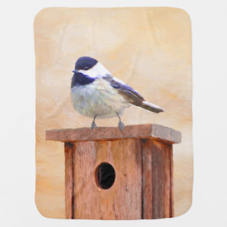 Manta Para Bebe Chickadee no Birdhouse