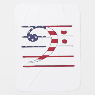 "Manta Para Bebe Clef baixo ""bandeira americana """