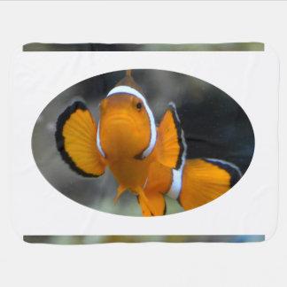 Manta Para Bebe clownfish que enfrentam a parte dianteira