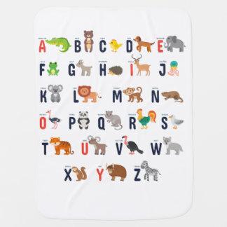 Manta Para Bebe Cobertura animal do bebê do alfabeto do bebê
