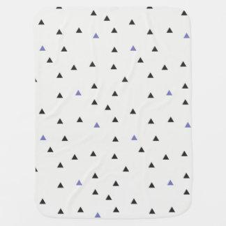 Manta Para Bebe Cobertura azul e preta dos triângulos