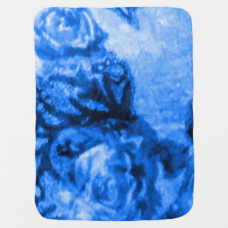 Manta Para Bebe Cobertura cor-de-rosa do bebê da antiguidade azul