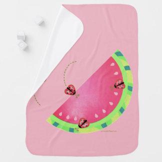 Manta Para Bebe Cobertura (cor-de-rosa) do bebê da melancia do