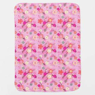 Manta Para Bebe Cobertura cor-de-rosa doce do bebê de sakura da