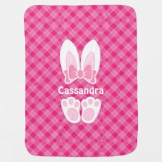 Manta Para Bebe Cobertura cor-de-rosa doce do bebê do coelho de