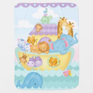 Manta Para Bebe Cobertura do bebê da arca de Noah