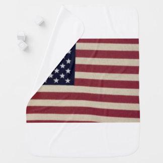 Manta Para Bebe Cobertura do bebê da bandeira americana