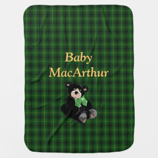Manta Para Bebe Cobertura do bebê da xadrez de Tartan de MacArthur