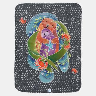 Manta Para Bebe Cobertura do bebê das lontras de mar de BINDI -
