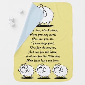 Manta Para Bebe Cobertura do bebê do amarelo das ovelhas negras do