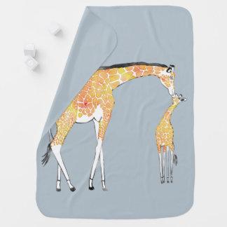 Manta Para Bebe Cobertura do bebê do beijo do girafa